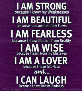 I am Strong - quote